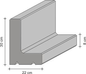 winkelkanten 27 22 und 44 30 cm. Black Bedroom Furniture Sets. Home Design Ideas
